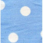 Blue Polka Dot Crib Sheet