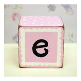 &quot;e&quot; Letter Block in Pink