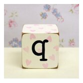 &quot;q&quot; Letter Block in Pink