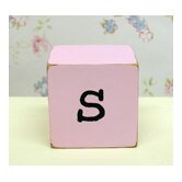 &quot;s&quot; Letter Block in Pink