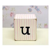 &quot;u&quot; Letter Block in Pink