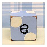 """e"" Letter Block in Blue"