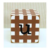 """u"" Letter Block in Chocolate"