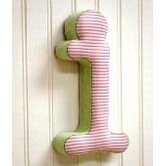 """i"" Fabric Letter in Pink / Green"