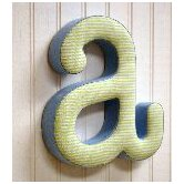 &quot;a&quot; Fabric Letter in Blue / Green