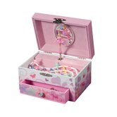 Ashley Girl's Musical Ballerina Fairy and Flowers Jewelry Box