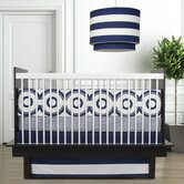 Wheels 3 Piece Crib Set in Cobalt Blue