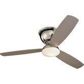 "52"" Freestyle 3 Blade Semi-Flush Mount Ceiling Fan with Remote"