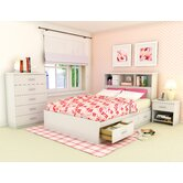 Willow Storage Platform 4 Piece Bedroom Collection