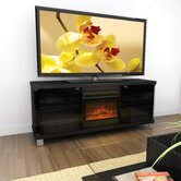 "Holland 60"" TV Stand with Electric Fireplace"