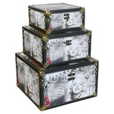 3 Piece Marilyn Monroe Scene Storage Box Set