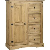 Corona 4 Drawer Low Wardrobe