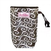 Latte Swirls Diaper Pack and Wipes Holder