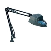 Magnifying Lamp in Black with Metal Adjustable Arm Clamp