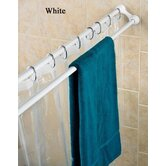 DUO Shower Curtain Rod &amp; Towel Rack
