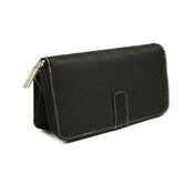 Women's Zip Around Wallet in Black