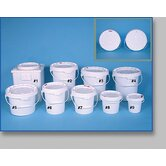 Company 5 Gallon White Plastic Open Head Screw Top Pail Cover
