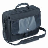 Blacktop 17&quot; Deluxe Laptop Case, Polyester, 18-1/2 x 5-1/2 x 16-1/4, Black