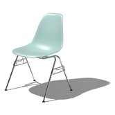 Eames DSS - Molded Plastic Side Chair with 4 Leg Base