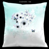 Valentines Pillow with Tropical Butterflies