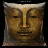 "Zen Black and Red 18"" Square Pillow"