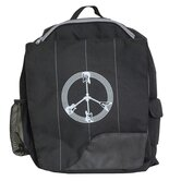 Little Dude Guitar Peace Backpack in Black