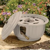 Decorative Hose Reel Pot in Taupe
