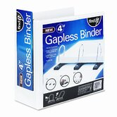 Gapless Loop Ring View Binder, 4in Capacity, White