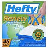 (45 per Carton) 13 Gallon Hefty Renew Recycled Kitchen & Trash Bags