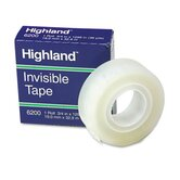 Invisible Permanent Mending Tape, 3/4&quot; X 1296&quot;, 1&quot; Core