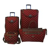 Fleur De Lis 4 Piece Luggage Set