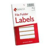 "File Folder Labels, 9/16""x3-7/16"", Tan"