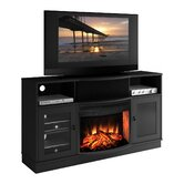 Contemporary 64&quot; TV Stand with Curved Electric Fireplace