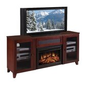 "Shaker Style 70"" TV Stand with Electric Fireplace"