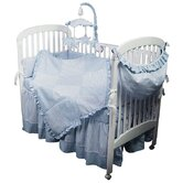 Sherbert Blue Crib Bedding Collection