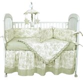 Etoile Green Crib Bedding Collection