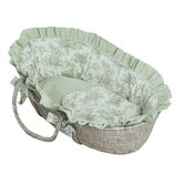 Etoile Green Moses Basket