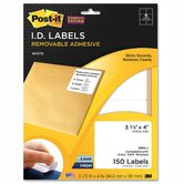 Super Sticky Removable Id Label, 150 Pack