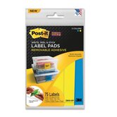 Super Sticky Removable Label Pad, 75 Labels/Pack