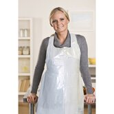 "24"" Polyethylene Apron in White"