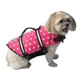 Designer Dog Life Jacket in Pink Polka Dot