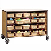 "34"" H Storage Cart with Optional Trays"