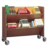 Double Sided Book Truck with 4 Shelves