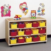 Koala-Tee Double Sided Mobile Storage Cabinet with Optional Trays
