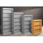 Library 44&quot; H Three Shelf Single Sided Bookcase