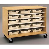 "36"" H Encore Double Sided Shelf Cabinet with Optional Storage Trays"