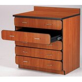 Illusions 36&quot; H Base Drawer Cabinet with Five Drawers