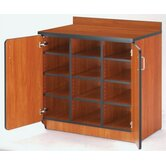 Illusions Cubicle Cabinet with Doors and Cubbies