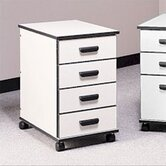 Solutions Four-Drawer Mobile File Cabinet