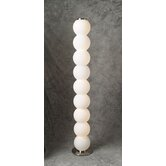 Snowman Nine Light Floor Lamp in Satin Nickel